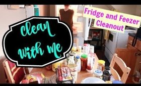 CLEAN WITH ME | FRIDGE AND FREEZER CLEANOUT | FEBRUARY 2018