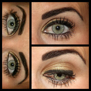 Simple Golden Eye for Everyday or Weekends!