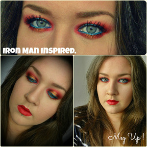 Iron Man Inspired makeup !