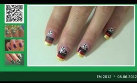 EM 2012 -Fussball Fan-Nägel * soccer nailart tutorial