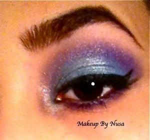 Purple and Skyblue