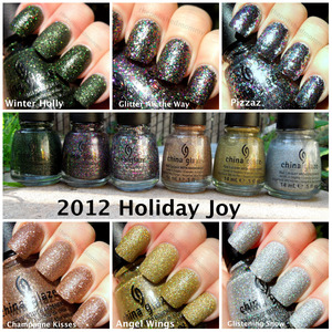 review and swatches: http://www.thepolishedmommy.com/2012/12/china-glaze-holiday-joy-2012-collection_13.html