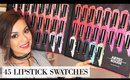 Makeup Forever Artist Rouge Lipsticks   45 LIPSTICK SWATCHES - TrinaDuhra