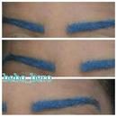 blue eyebrows