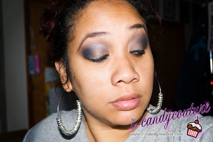 FOTD using Eclipse and New Moon from I-Candy Couture's Eye Candy Mineral Pigment Collection - Twilight Saga. Earrings by ICC