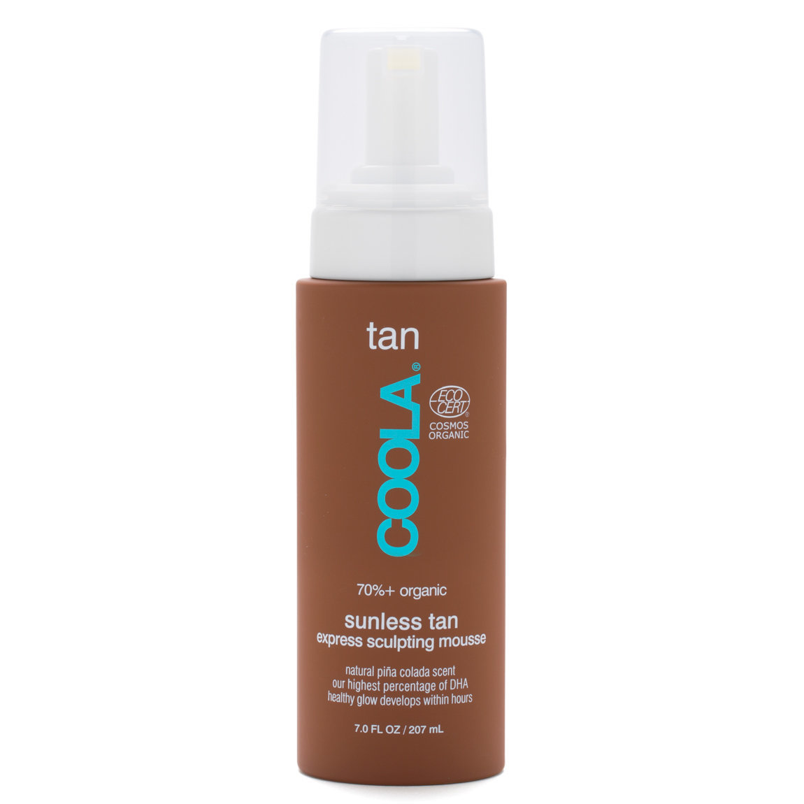 COOLA Gradual Sunless Tan Express Sculpting Mousse product smear.
