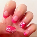 Pink sparkly french