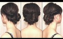 Braided & Twisted Asymmetrical Grecian Bun