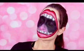 HUGE MOUTH HALLOWEEN FACEPAINT MAKEUP / HalloweenXTRA 26 (2017)
