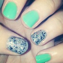 Green and Silver Glitter.
