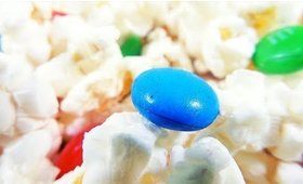 Popcorn and M&M´s Snack