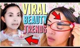 WEIRD VIRAL Beauty and Makeup Trends Tested!