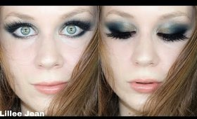 So Jaded Palette Teal & Bronze Dramatic Chatty Makeup Tutorial | Lillee Jean