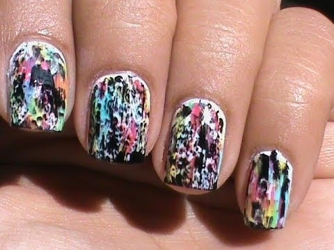 Color Acid Wash No Tools Beginners Nail Art Without Tools Easy Nail Designs Without Using