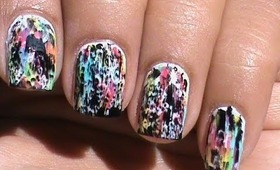 Color Acid Wash - NO Tools !! Beginners Nail art without tools Easy Nail Designs without using tools