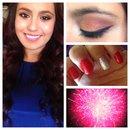 July 4th makeup and nails