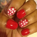 Red, Pink & White Dots