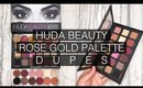 HUDA BEAUTY ROSE GOLD PALETTE DUPES WITH MAKEUP GEEK EYESHADOWS I Futilities And More