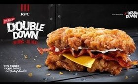JILLY TRIES KFC DOUBLE DOWN SANDWICH