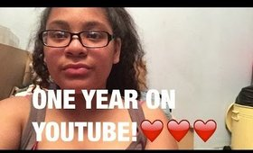 ONE YEAR HERE ON YOUTUBE!!!!!