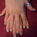 Lime green tips