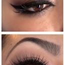 Brown Smokey eye with lashes