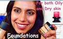 Best Foundations for Oily & Dry skin! ♥ My top 4 Foundations