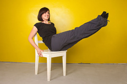 Pilates Abs Workout With a Chair: Part Two