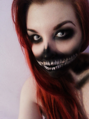 Misfits inspired make-up. emilyjaynemakeup.blogspot.co.uk www.facebook.com/emilyjaynemakeup