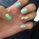 Mint party nails