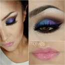 Blue & purple in smokey eye
