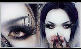 THE RAVEN Halloween Makeup Tutorial🌙 白塗りメイク [ワタリガラス]
