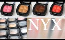 NYX Eyeshadow Swatches 17 Colors