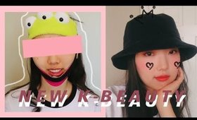 Weird, New, & Cool K-Beauty Products Try-On & Review ft. Yesstyle