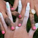 Working girls' hands
