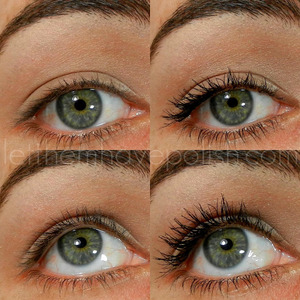 before and after of Milanis new mascara Grandissimo lashes