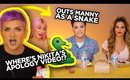GABRIEL ZAMORA OUTS MANNY AS A SNAKE / Where's Nikita's Video!?