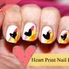 Heart Print Nails