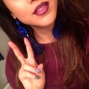 Peace, love and a purple lip