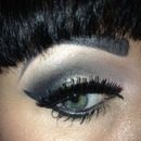 smokey eye with Katy perry lashes
