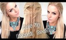 Half Up Fishtail Braid Hairstyle