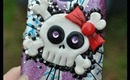 DIY Phone Case Decorating - Girl Skull
