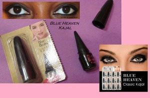 """Product Review: I received my new Blue Heaven Kajal Khol liner from Ebay  - I love presents when its not even my birthday :3 The product is suppose to """" define """" by brightening the whites of your eyes with cooling herbal extracts. Its also gives a matte finish, resistant to smudging and stays on even if you have oily skin. I really like this product and it does what it says only flaw is that I had to really PUT IT ON!!! Once the product warmed up it became more intense. Worth a buy for $5 bucks Buy one get one so I'm not upset!!!"""