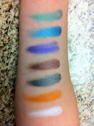Colors Top to Bottom Edgy Emerald, Tenacious Teal, Painted Purple, Pomegranate Punk, Audacious Asphalt, Fierce & Tangy and Too Cool