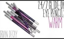 Review & Swatches: URBAN DECAY 24/7 Glide-On Eye Pencils Warms