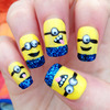 Glittery 3D 'Despicable Me 2' Inspired Nails