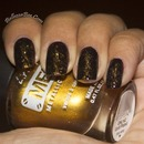 Golden Chic Saran Wrap Nails