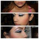 Blue Eyeshadoe Look On My Client