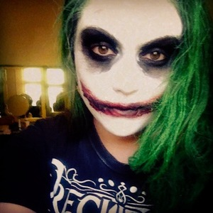 First attempt with halloween makeup I did the joker