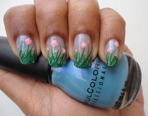 Flower Field Nails For more Info: http://chinadolltt.blogspot.com/2012/04/flower-fields.html